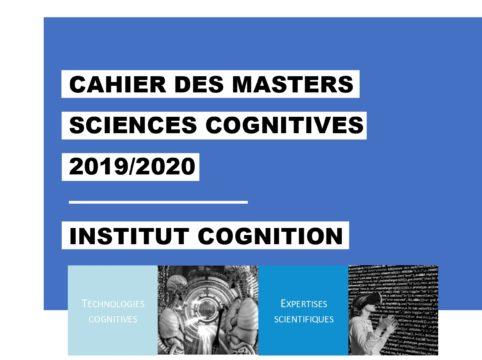 Le Cahier des Masters en Sciences Cognitives de l'Institut Carnot Cognition voit pour la première fois le jour !
